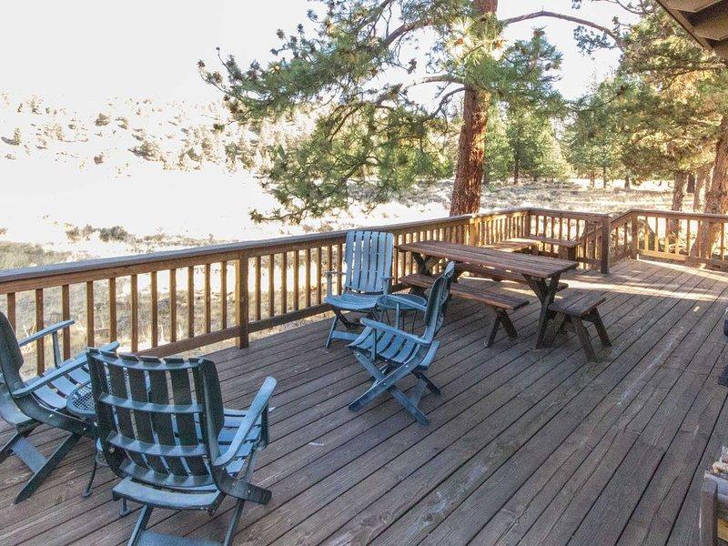 Vue du pont des tables et des chaises