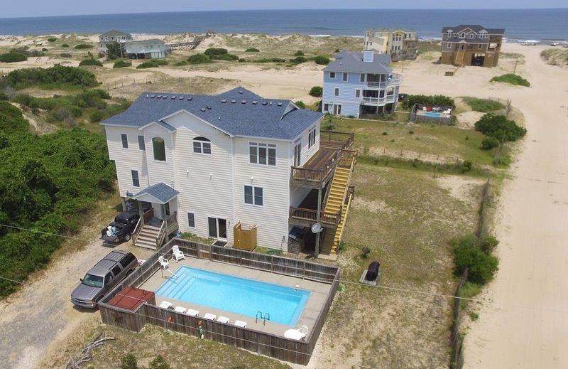 SCREAMIN mim! - DIRECT beach access means a short walk.  Very Private!!!!   Very spacious home
