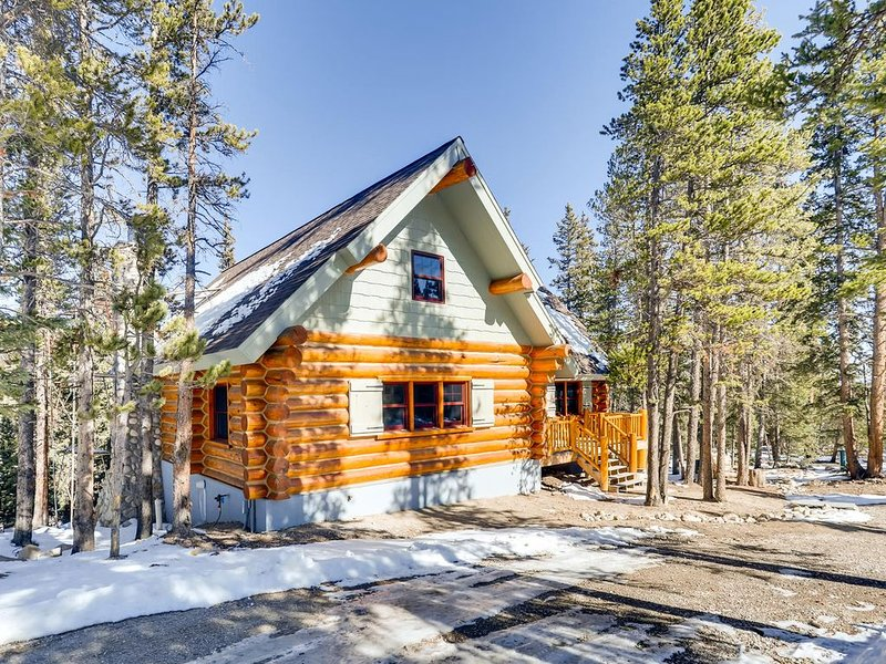 Near Breck- Luxurious Cabin in 1939's craft decor with Fishing Pond and 2 Stream, casa vacanza a Fairplay