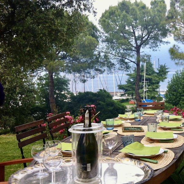 Perdersi in 2.000 metri di giardino affacciato sul lago di Garda, casa vacanza a San Giorgio