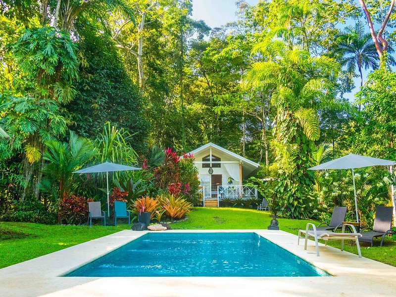 Ocean view luxury property with pool in the jungle at 300 m from the beach., aluguéis de temporada em Puerto Viejo