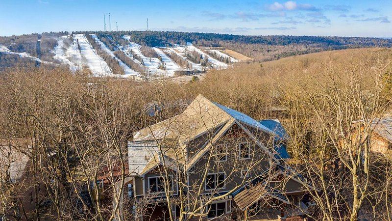 View of the Slopes Near our Poconos Luxury Rental