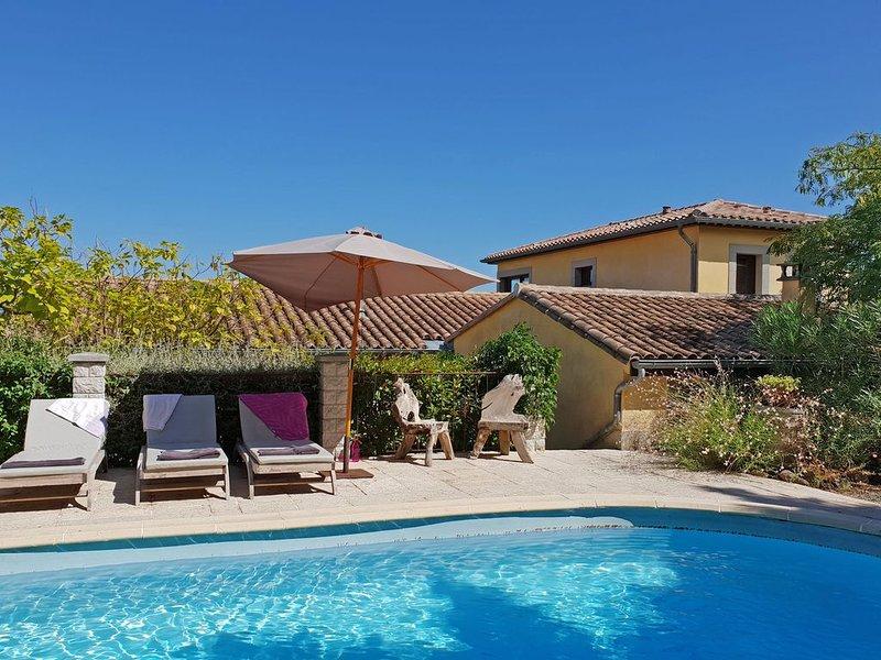 Luxury Villa in Preixan with a view of Carcassonne, holiday rental in Villarzel-du-Razes