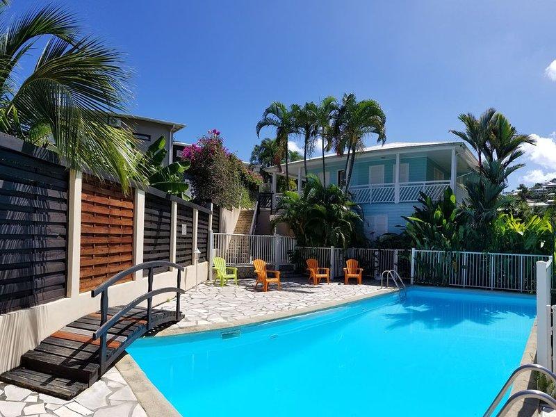 Studios Paradis Turquoise, piscine, plage, Les Trois ilets, casa vacanza a La Pagerie