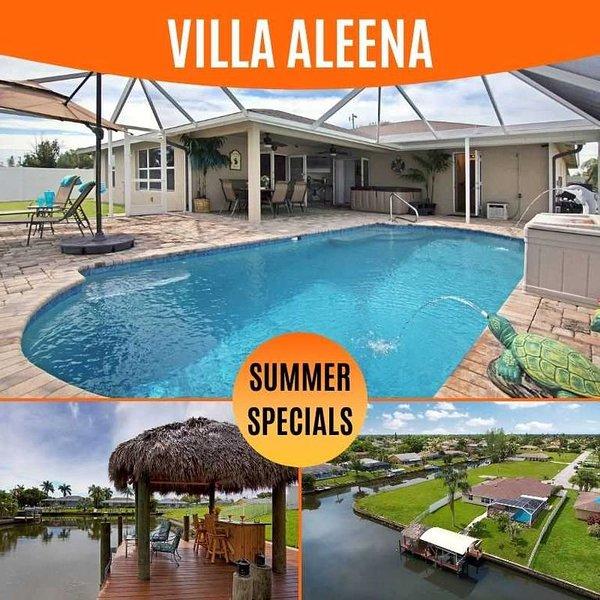 31% OFF! SWFL Rentals - Villa Aleena - Spacious Pool Home on Intersecting Canals, aluguéis de temporada em Cape Coral