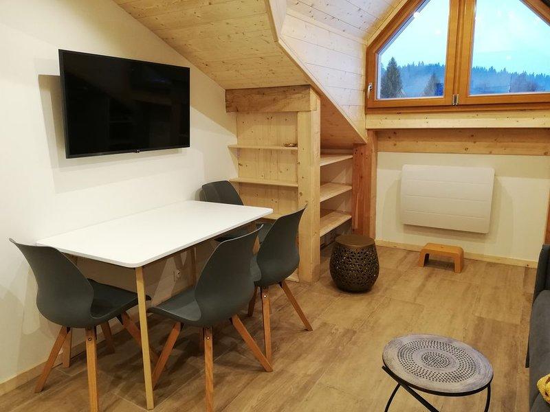 Appartement neuf au pied des pistes - station la Féclaz centre - Au cosy d'Elana, holiday rental in Saint-Jean-d'Arvey