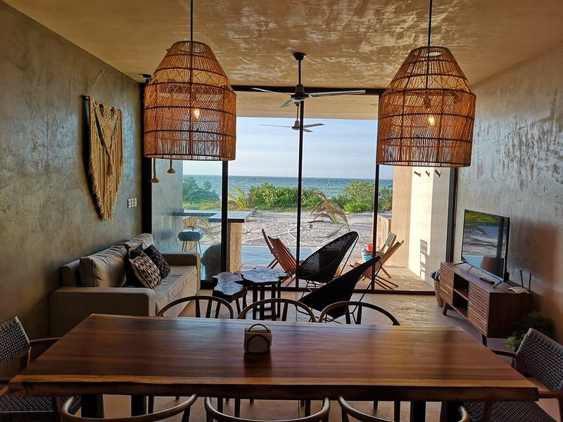 'Tulum Styled' Villa with beach front San Bruno, holiday rental in San Crisanto