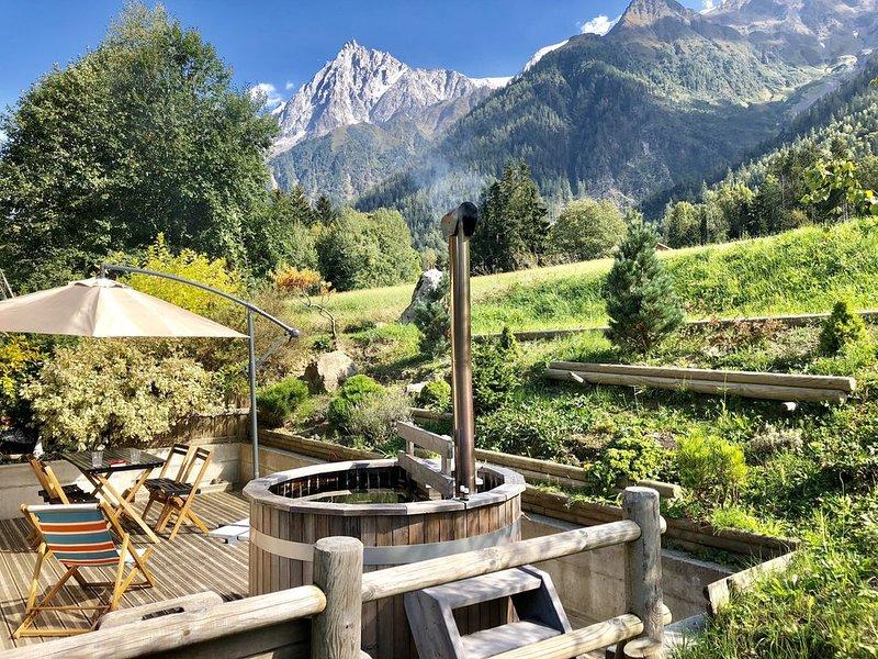 Trés joli studio avec vue sur aiguille du midi, prox Chamonix – semesterbostad i Les Houches
