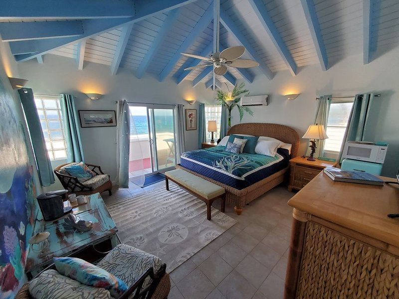 Dolphin King Luxury Room of Coral's Edge Bed & Breakfast, St Croix USVI, vacation rental in Cane Bay