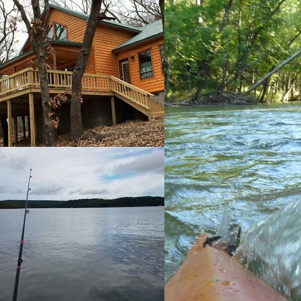 beautiful cabin in the woods with view of the lake, holiday rental in Park Hill