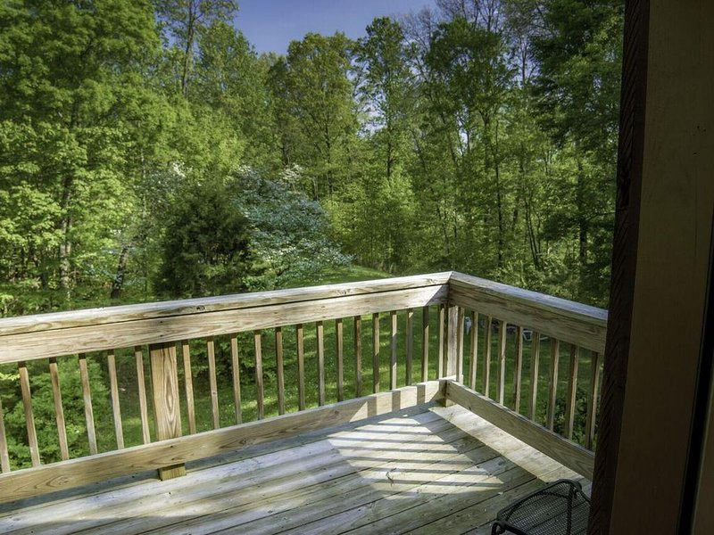 Wrap around deck on main floor