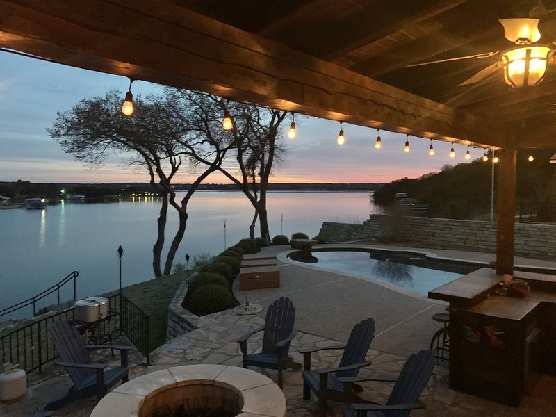 Lakefront property with pool and lighthouse with amazing views of the lake, ., vacation rental in Godley