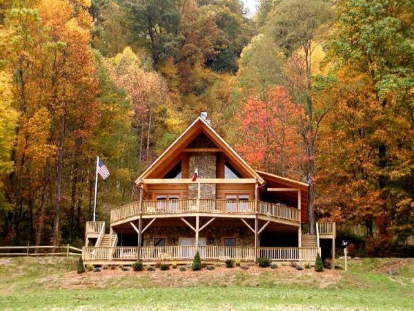 Eagle Trace 3 Bedroom 3 Bath Log Cabin in Valle Crucis NC, vacation rental in Vilas