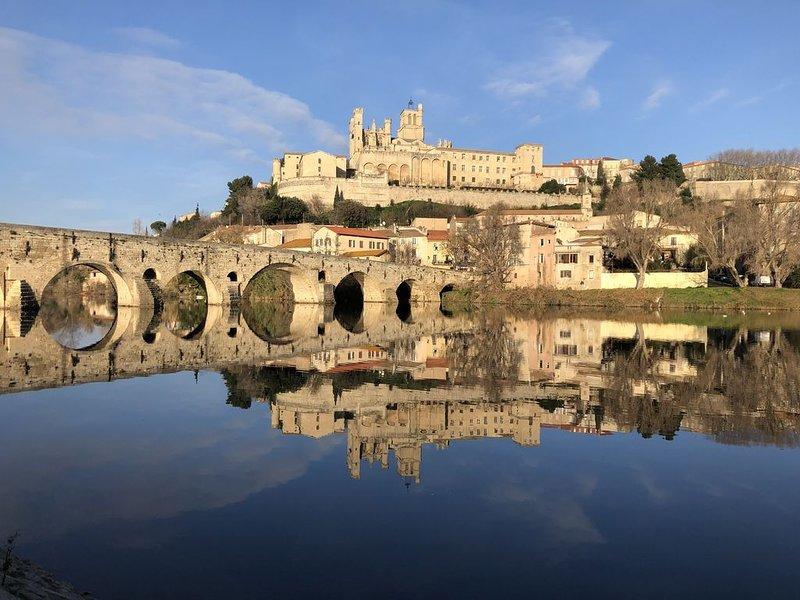Maison de village avec piscine dans parc naturel régional du Haut Languedoc, holiday rental in Laurens