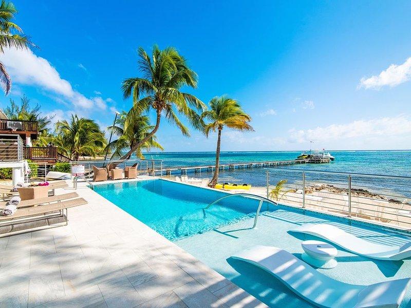 4BR-Mahogany Cove: Private Oceanfront Villa with Excellent Snorkeling, location de vacances à Gun Bay
