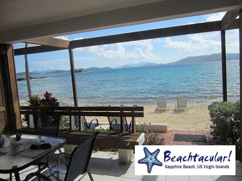 Beachtacular!*Sapphire ★★★★★  Also search for BEACHTACULAR2.0 #260099, aluguéis de temporada em St. Thomas