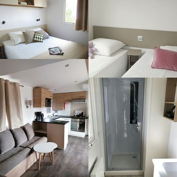 Mobil-home 3 chambres Camping le Mar Estang 4 ****Siblu Canet Plage, holiday rental in Saint-Nazaire