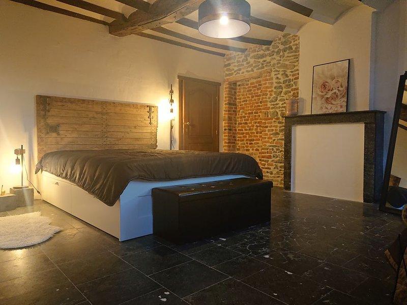 Maison typique en pierre entièrement rénovée, casa vacanza a Bavay
