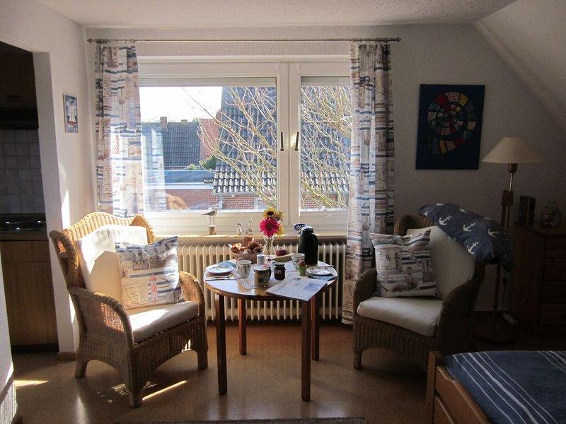 Ferienwohnung im Obergeschoss in ruhiger Lage mit Gartennutzung, alquiler vacacional en Norden