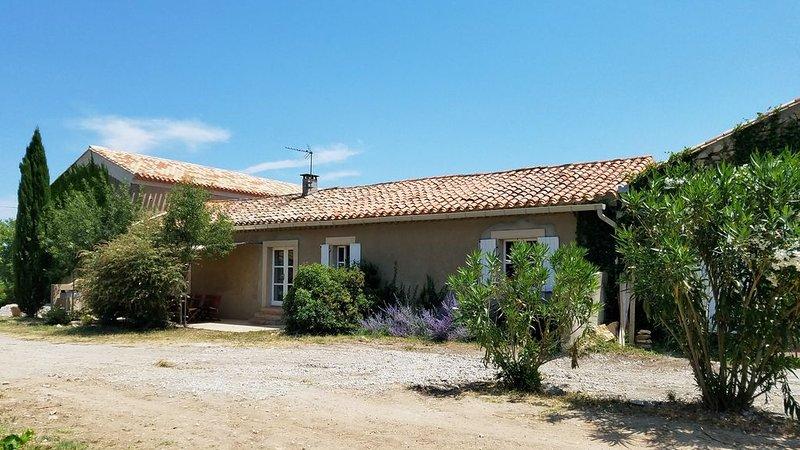 Gite de Charme   dans domaine viticole avec piscine naturelle, holiday rental in Lastours