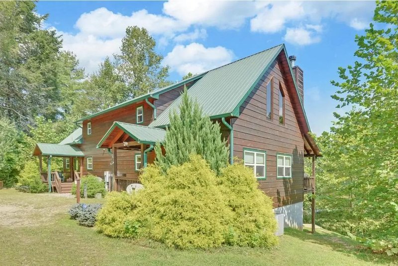 Toccoa River Front cabin, fishing at your door step, location de vacances à Suches