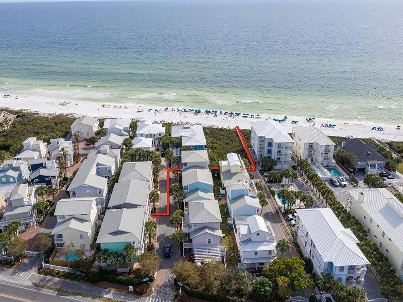 Aerial View - Effortless Beach Access