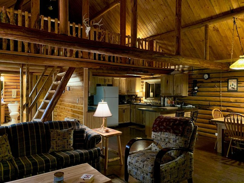 True Montana Log Cabin on 4 acres, holiday rental in Essex