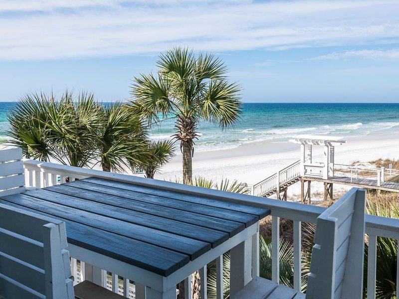 Gulf & Beach views! Sleeps 14. One Minute walk to beach. Brand new remodel., vacation rental in Seagrove Beach