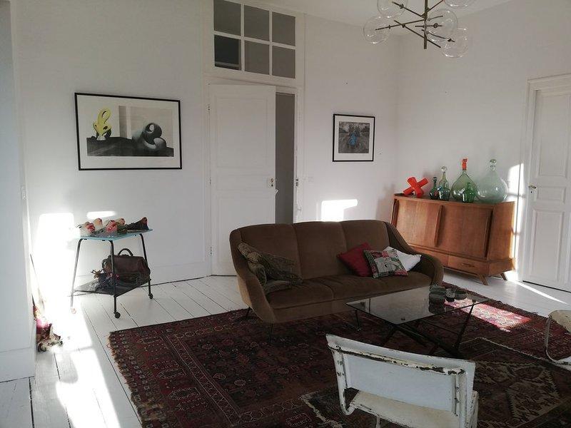 Spacieux et lumineux appartement de 163m2 restauré avec cachet Centre Ville, vakantiewoning in Saint-Pierre-Lafeuille