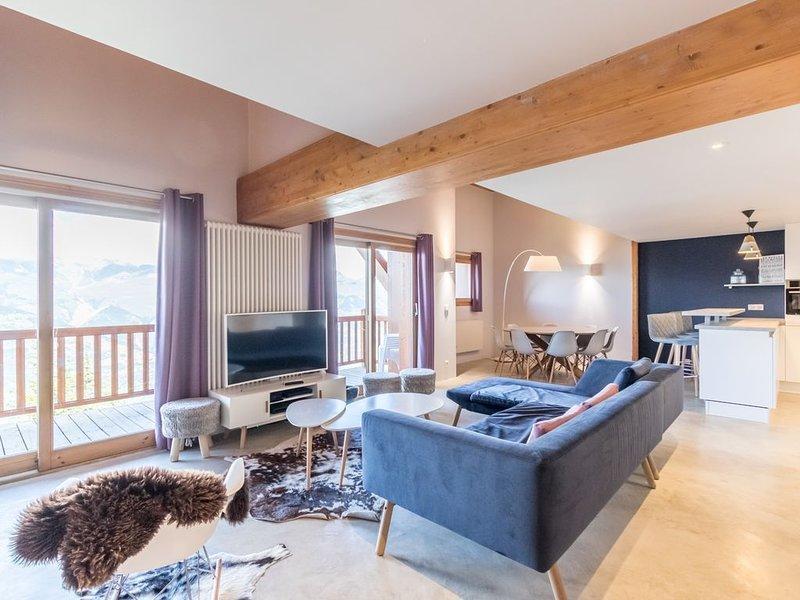 Superbe duplex ,vue dégagée, dans résidence avec piscine, accès skis au pieds, holiday rental in Les Arcs