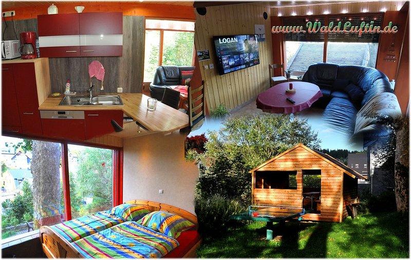 neue moderne FeWo mit eigenem Eingang, am Wald 4 Personen + Baby, holiday rental in Meuselbach