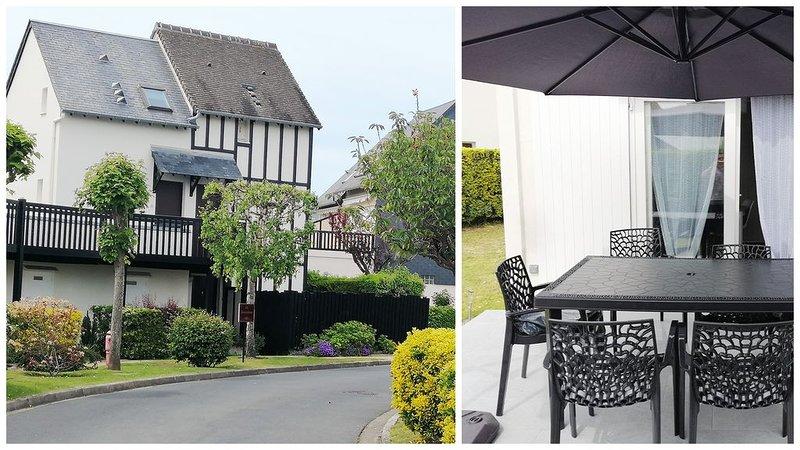 Appartement /Cottage-F2 en rez de jardin exposé S.O a 100 M de la Mer, holiday rental in Cabourg