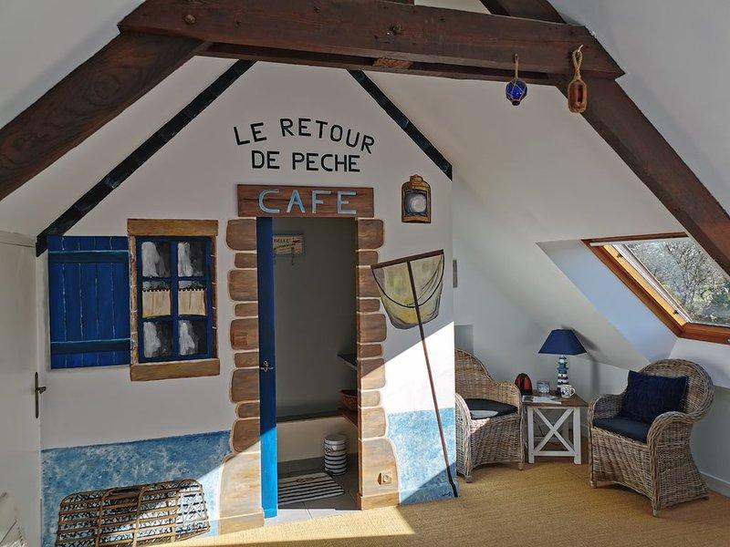 Chambre d'hôtes Retour de Pêche dans une longère bretonne entièrement restaurée, alquiler de vacaciones en Sulniac