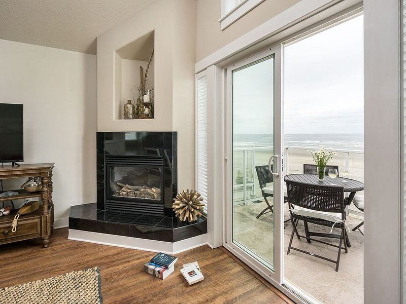 Gorgeous southerly ocean views and a crackling fire - what could be better?