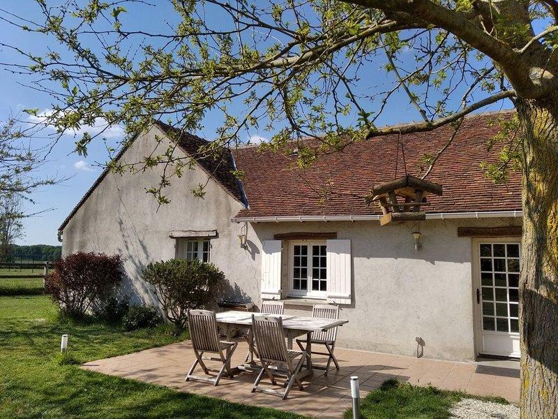 Maison campagne au calme grand jardin, location de vacances à Germigny-des-Pres