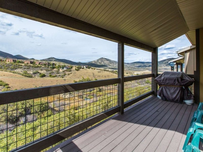 We have a Gas Grill Located On The Deck, Often Wildlife Can be Spotted Down Below, You will Also be able to enjoy sweeping mountain views of Deer Vall