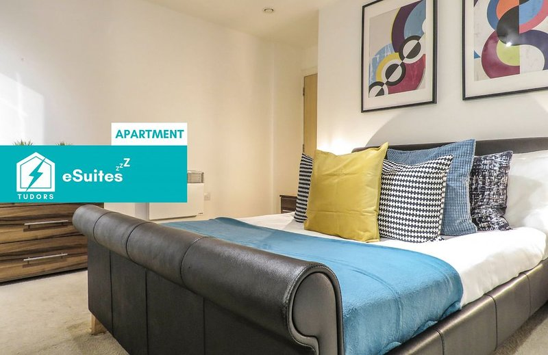 Tudors eSuites spacious and carefully designed 2 Bedroom apartment with free par, holiday rental in Sandwell