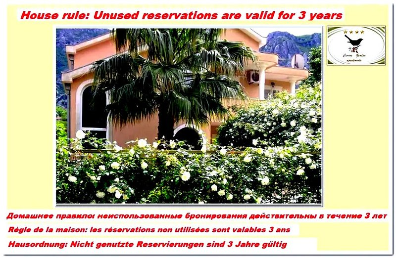 De lux family apartments in private park near the beach Risan / Kotor county, holiday rental in Bogetici