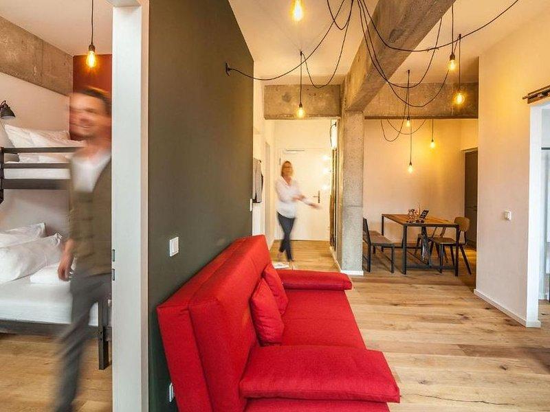Suite XL, ca. 60qm, 2 Schlafzimmer, für 4 Personen, aluguéis de temporada em Leipzig