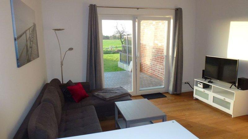 Ferienhaus Rüno 2, 65qm, Terrasse, 2 Schlafzimmer, max. 4 Personen, holiday rental in Bergen auf Ruegen