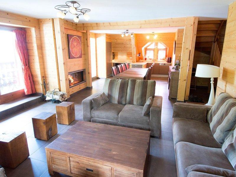 Chalet**** 12 pers- Vaujany-Alpe D'Huez-150 m2- 5 ch- 3 sdb, alquiler de vacaciones en Vaujany