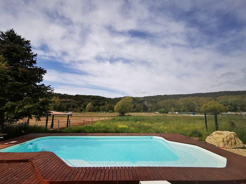 Magnifique villa, piscine, calme absolu, exceptionnel, location de vacances à Villeneuve-Loubet