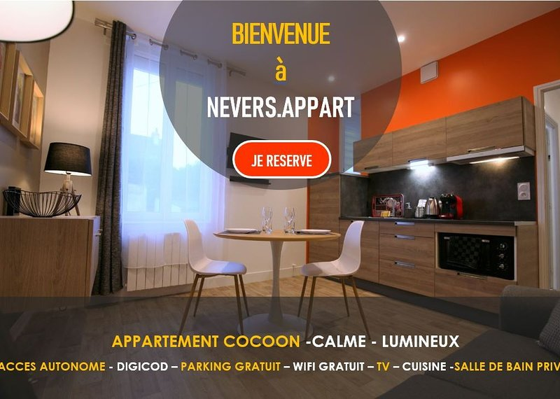 RDC  -  APPARTEMENT - COSY -CALME -LUMINEUX    rdc, holiday rental in Raveau
