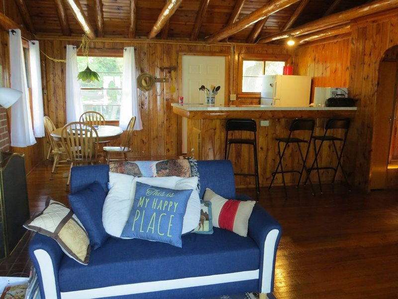 Cabin with 150 ft of beach front and amazing sunsets!, holiday rental in Port Austin