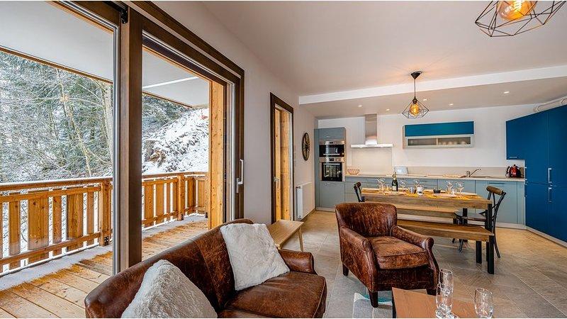 Appartement 6 personnes - moderne, proche  centre et pistes, terrasse, location de vacances à Abondance