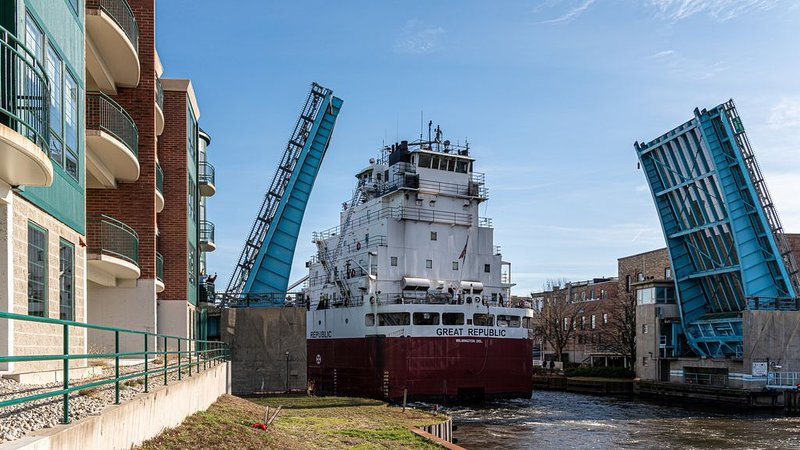 Watch the shipping freighters from the balcony of this riverfront condo.