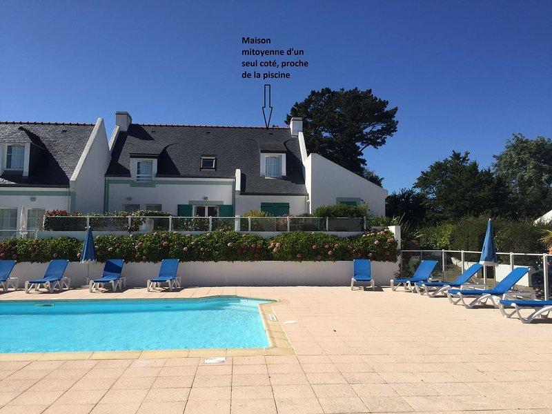 Maison de vacances de 56 m2 dans résidence avec piscine chauffée proche plages, location de vacances à Belle-Ile-en-Mer