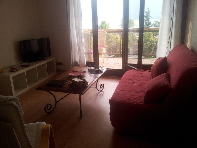 T2 AVEC  SUPERBE VUE PANORAMIQUE SUR LE LAC DU BOURGET***, holiday rental in La Balme