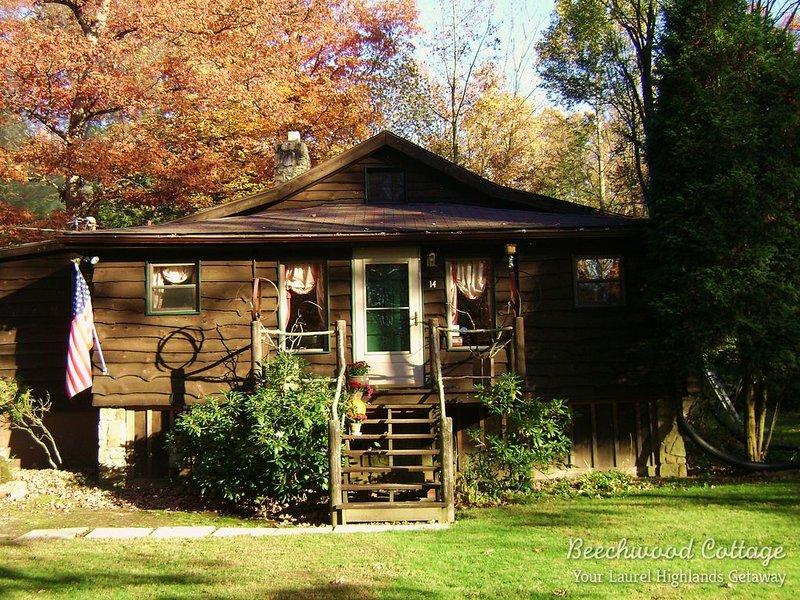 Cute Cottage in Beautiful Forest | Artistic Style & Charm | A Ligonier Original, location de vacances à Laughlintown