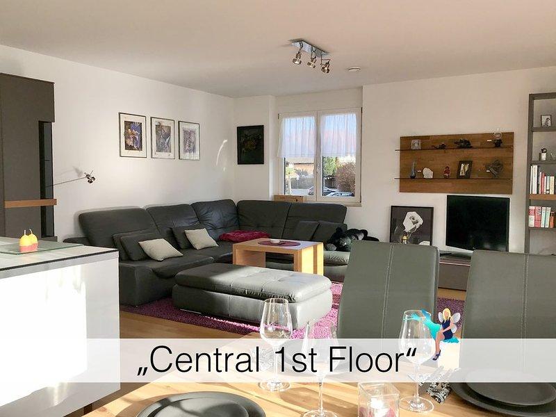 Luxuriös im1 Stock mit Süd West Balkon, Aufzug, 2 Schlafzimmer, Stellplatz, holiday rental in Bregenz